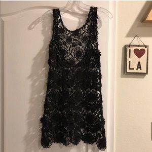 For Love and Lemons Crochet 3D Floral Lace Dress